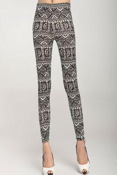 Skintight Legging Black and white
