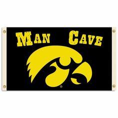 Iowa Hawkeyes Man Cave 3' x 5' Flag