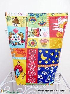 Népmesék - Lunch bag -  vízhatlan uzsonnás  zsák  (annetextil) - Meska.hu Bagan, Handmade, Diy, Hand Made, Bricolage, Craft, Diys, Handyman Projects, Do It Yourself