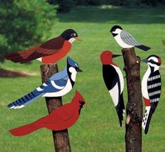 Giant Yard Birds Wood Pattern Decorate your trees, fences and home with these giant birds. #diy #woodcraftpatterns