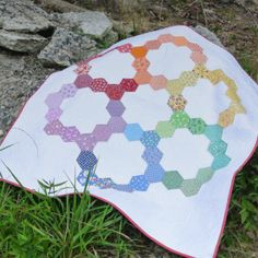 Machine Pieced Hexag
