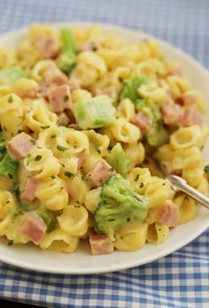 Creamy Ham and Broccoli Shells and Cheese - Cheesy, delicious and easy to make pasta dish with wholesome ingredients! Pork Recipes, Baby Food Recipes, Dinner Recipes, Cooking Recipes, Pasta Recipes, Amish Recipes, Dutch Recipes, Recipes With Ham, Southern Recipes