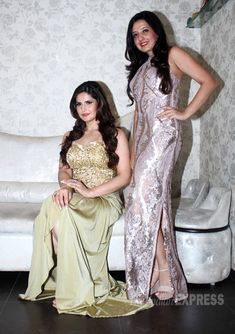 Bollywood divas: Lara Dutta is red hot, Zarine Khan shines in gold Most Beautiful Bollywood Actress, Beautiful Actresses, Bollywood Stars, Bollywood Fashion, Zarine Khan, Lara Dutta, Beautiful Muslim Women, Indian Star, Star Beauty