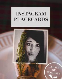 Make place cards using your Instagram account.
