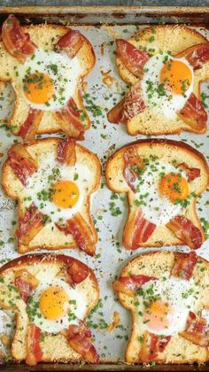 Sheet Pan Egg-in-a-Hole A quick classic that comes together right on a sheet pan! Less mess, less fuss and just way easier than the stovetop version! - 40 Excellent Egg Recipes: Best For Breakfast Or Brunch Breakfast Dishes, Healthy Breakfast Recipes, Healthy Recipes, Breakfast Ideas With Eggs, Breakfast Toast, Breakfast Pizza, Easy Egg Recipes, Breakfast For Dinner, Quick And Easy Breakfast