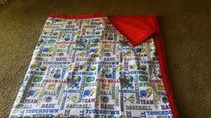 Sports flannel blanket
