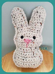 Ravelry: Small Bunny Peep pattern by Jamy Lyn Art Crochet Cactus, Easter Crochet, Marshmallow Bunny, Crochet Animals, Crochet Dolls, Happy Easter, Fiber Art, Ravelry, Crocheting