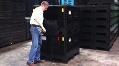 TranPak's plastic Velocity Bin is the most efficient collapsible bulk container on the market. http://www.tranpak.com/plastic-bins/collapsible-returnable/velocity-bin