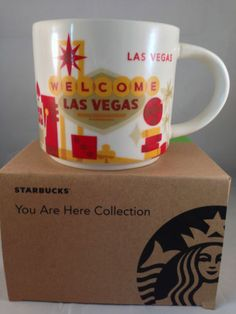 New STARBUCKS Las Vegas Cup Mug You Are Here Collection New Series Boxed