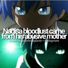 Image result for assassination classroom nagisa bloodlust