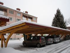 Pergola Garaj Pin Nordic - Pergole pentru Garaj Pin NordicAdria Prod Com Garage Pergola, Small Pergola, Pergola With Roof, Wooden Pergola, Backyard Pergola, Pergola Plans, White Pergola, Carport Designs, Garage Design