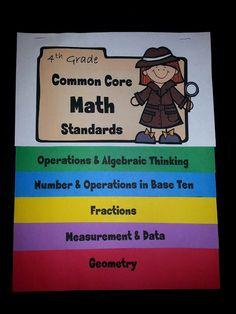 4th Grade Common Core Math Standard Flip Book