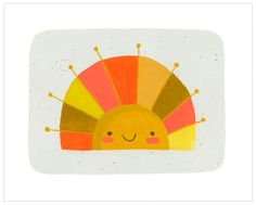 here comes the sun ♥ Happy Face Sun by Sarah Walsh