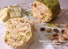Salame di cioccolato bianco con pistacchi salati