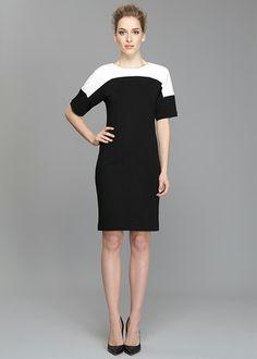 Punto Milano Kimono Sleeve Dress. LaFayette 148 New York