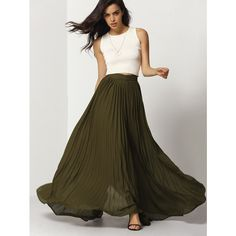 Pick up your dancing shoes and put on the Flowy Pleated Maxi Skirt. This skirt will make you want to move! This gorgeous piece features pleating throughout and…