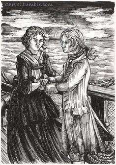 """John's and Claire first.  Voyager, chapter 48. Moment of Grace.   I shook my head slowly. It felt dense and heavy as one of the cannonballs piled in the shallow bins by the guns.  """"No. All we're doing is to stop more men being infected. There isn't a bloody thing I can do for the ones who already have it."""" """"Indeed."""" He stooped and picked up one of my hands. Surprised, I let him have it."""