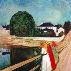 Девушки на мосту — Эдвард Мунк