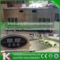 3 Compressors 48CM 2 Round Pot Fried Ice Cream Machine With 10 Buckets Fry Ice Cream Roll Pan Machine With Refrigerator