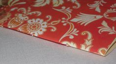 Notebook Sewn Spine  Red with Yellow by inkmeetspaperdesign, $10.00