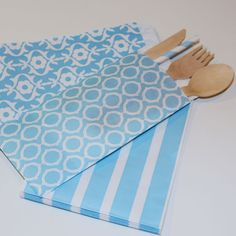 Silverware Bags in sweet baby blue. These pretty modish trendy bags are perfect for holding your eating untensils....♥