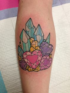 the style of this tattoo totally reminds me of rainbow bright and the star stealer