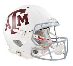 Texas A&M Aggies Authentic White Full Size Speed Helmet
