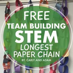 FREE STEM Challenge  This is a great product to begin building community in your classroom while introducing STEM.   INCLUDED: -Instructions for The Paper Chain Challenge -Planning and Reflection Pages  CHECK OUT THE FULL PRODUCT WHICH INCLUDES 4 TEAM BUILDING STEM ACTIVITIES: Team Building STEM Challenges  VIEW OUR OTHER STEM PRODUCTS STEM ACTIVITIES  CHECK OUT OUR BLOG Be sure to check out our blog, The Carly and Adam Blog, for teaching tips and discussion.