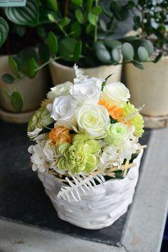 preserved flower white, GLUCK Floristik