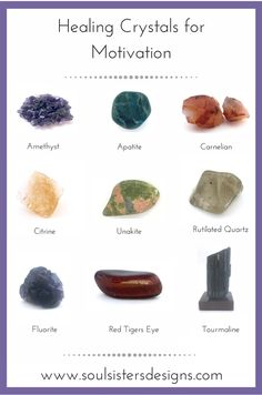 Common Healing Crystal Conditions such as Anxiety, Depression, Grounding, etc. Feel Free to Print, Save or Pin each graphic