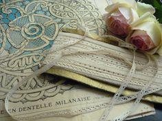Tape Laces: Idéal ce lacet ancien, vous permettra de réaliser votre ouvrage dentelle. (Dentelle de Luxeuil - Dentelle de Milan - Dentelle Princesse - Dentelle Duchesse)