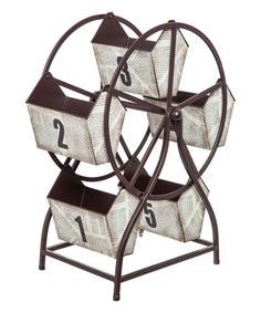 Look at this Revolving Numbered Storage Bin Ferris Wheel on #zulily today!