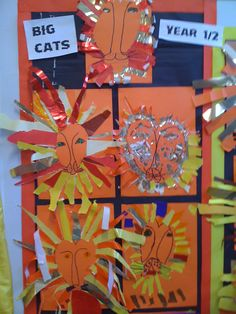 African crafts and artwork Rainy Day Crafts, Fun Crafts For Kids, Summer Crafts, African Cats, African Animals, Winter Art Projects, Projects For Kids, Africa Nature, Safari Crafts