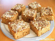 Skuffekake med krydder | Det søte liv