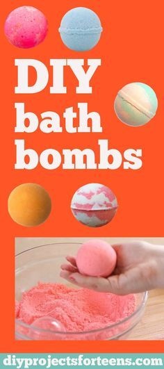 DIY Bath Bombs Recipe and Tutorial - Fun DYI Beauty and Bath Gift - Cool DIY Projects and Crafts for Teens: