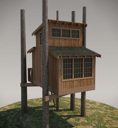 DIY Treehouse Plan No. 09: Oso designed by Pete Nelson – Be in a Tree #deckframing