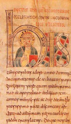 The oldest historiated initial known, St Petersburg Bede, 8th- ENLUMINURE CARO,  1.1 CADRE TEMPOREL ET GEOGRAPHIQUE, 2: L'art carolingien est très fortement lié à la cour de son seigneur et limité à l'empire des carolingiens et à l'empire des Francs. Les domaines artistiques en dehors de cet ensemble ne sont pas considérés comme relevant de l'art carolingien. Le royaume de LOMBARDIE, que Charlemagne conquiert en 773-774, est un cas particulier car il perpétue ses propres traditions…