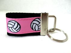 Volleyball Key Fob Mini Sports Key Chain by CreativeJenV on Etsy (Accessories, Keychain, Fabric, handmade, fabric key fob, fabric keychain, volleyball key fob, volleyball keychain, volleyball key chain, sports key fob, sports keychain, sports key chain, girls volleyball, mini key chain, mini keychain, black friday etsy)
