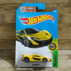 HOT WHEELS McLAREN P1 Yellow HW EXOTICS 1/10
