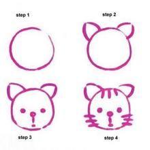 drawing,preschool,drawing for kids,drawing tutorial,first grade Drawing Samples Easy Preschool 2019 - Malvorlage Easy Drawings For Beginners, Easy Drawings For Kids, Art For Kids, Easy Drawing Steps, Step By Step Drawing, Drawing Tips, Easy Tiger Drawing, Beginner Drawing, Hedgehog Drawing