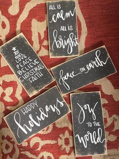 26 Lovely Christmas Wood Signs to Create a Unique Holiday Look - The Trending House Holiday Signs, Christmas Signs, Diy Christmas Gifts, Christmas Projects, Holiday Crafts, Christmas Decorations, Christmas Ideas, Valentine Crafts, Handmade Christmas