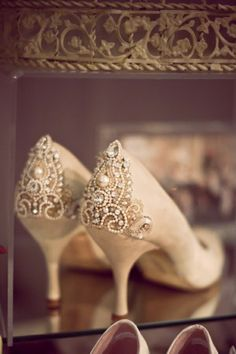 Lovely shoes. For beautiful wedding dresses by emmahunt.co.uk