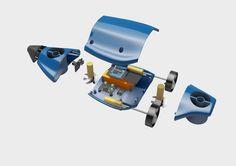 3D Printable Submarine RC with GoPro support Designed by Joaquín Ginés Martí, Iñaki Armendáriz, Jose Prados and Salvador