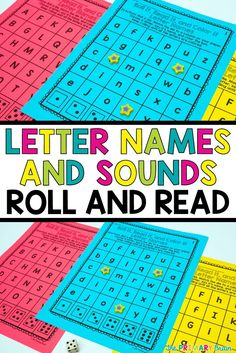 Word on Letter Names and Letter Sounds with this NO PREP Roll it, Read it, and Color it Activity. Students roll a die and read the letter name or sound. Great for literacy centers, workshop rotations, fun Friday games, morning work, and partner work. Perfect for Kindergarten and first grade classrooms. #letternames #lettersounds #kindergarten #firstgrade