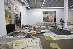 Oscar Murillo Works  at the Rubell Family Collection -