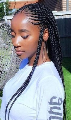 Braided Hairstyles Updo, Black Hairstyles With Weave, Feed In Braids Ponytail, Twist Braids, Hair Images, Hair Pictures, How To Grow Natural Hair, Natural Hair Styles, Cornrows Natural Hair