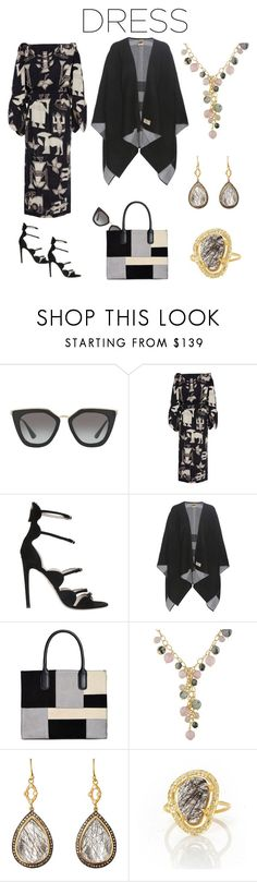 """Party On:  Long Sleeve Dress"" by karen-galves on Polyvore featuring Prada, Sissa, Giambattista Valli, Burberry, Giani Bernini, Ice, Sara Weinstock, Rivka Friedman and longsleeve"
