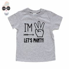 "Your little boy is turning three years old! Let him celebrate in style with this playful and funny t-shirt created just for him. Featuring the phrase, ""I'm 3, let's party!"" your little one will be sty More"