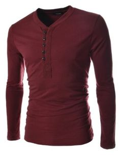 TheLees Men's Slim fit 2 Tone V-neck TShirt