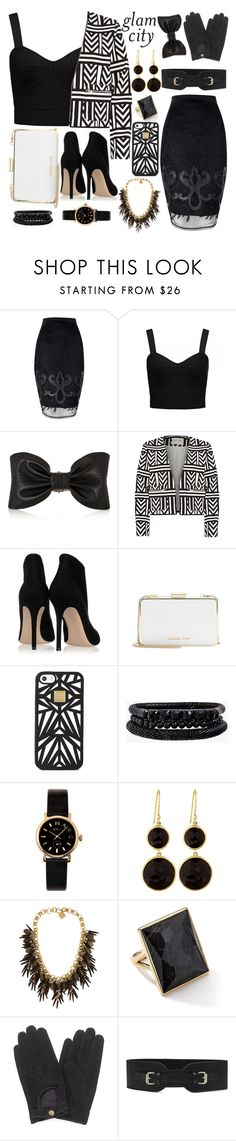 """Glam City"" by monacoburkinsky ❤ liked on Polyvore featuring Jane Norman, Forever New, Balmain, River Island, Gianvito Rossi, MICHAEL Michael Kors, Hervé Léger, Spring Street, Marc by Marc Jacobs and Ippolita"